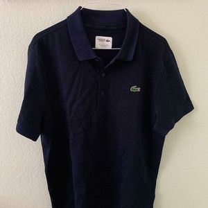 Lacoste Sport Blue Navy Short Sleeve Polo Large
